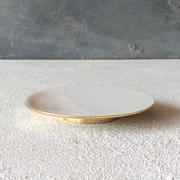 Brass dish with enamel Grey - the source