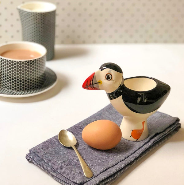 Egg cup Puffin **Imperfect - the source