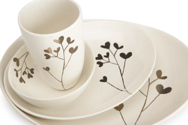 Botanicals Clover Oval Plate Large - the source