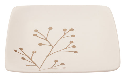 Botanicals Blossom Square Plate - the source