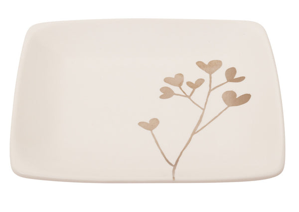 Botanicals Clover Square Plate - the source