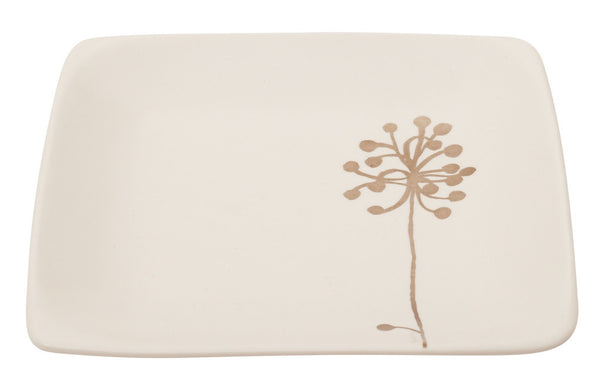 Botanicals Dandelion Square Plate - the source