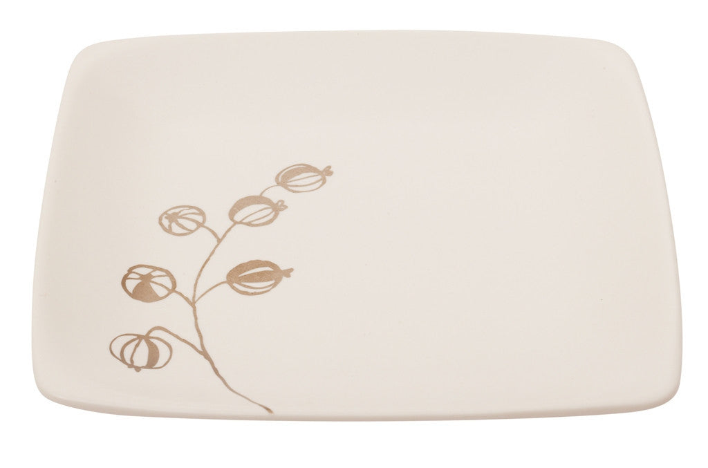 Botanicals Gooseberry Square Plate - the source
