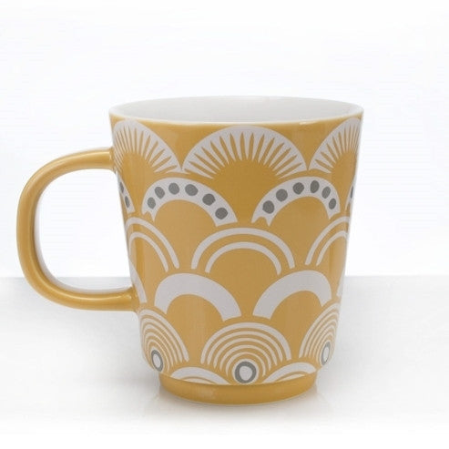 Vintage Pattern Mug - Amber - the source