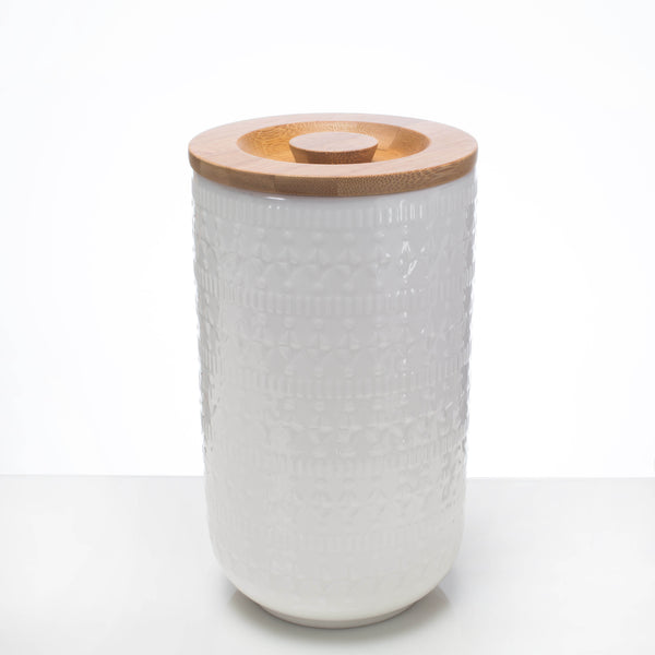 Ceramic Canister - Geometric Large **Imperfect - the source