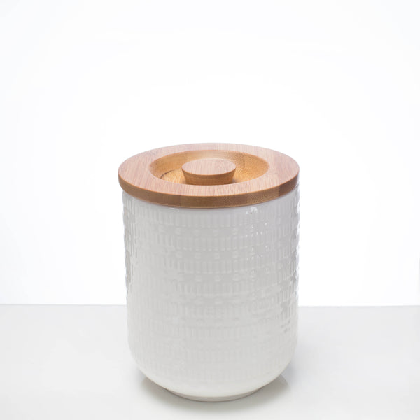 Ceramic Canister - Geometric M **Imperfect - the source