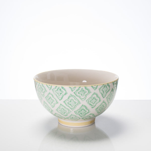 Hand-stamped bowl mint Lg - the source