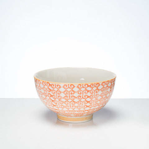 Hand-stamped bowl yellow Lg - the source