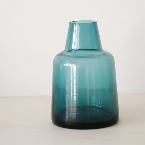Vase Teal Bottle - the source