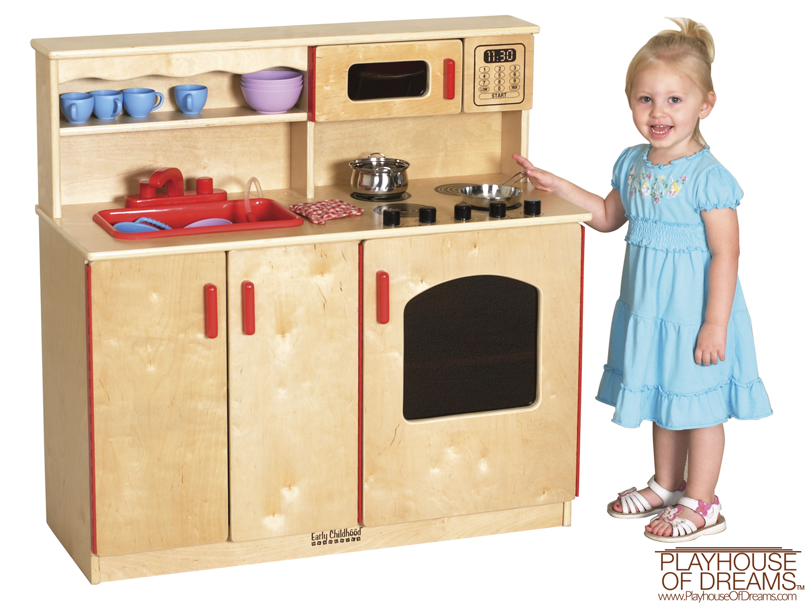 Birch 4-In-1 Play Kitchen - Playhouse of Dreams  - 1