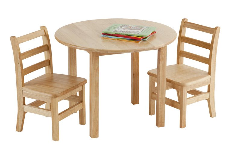 "30"" Round Hardwood Table with 18"" Legs - Playhouse of Dreams  - 1"