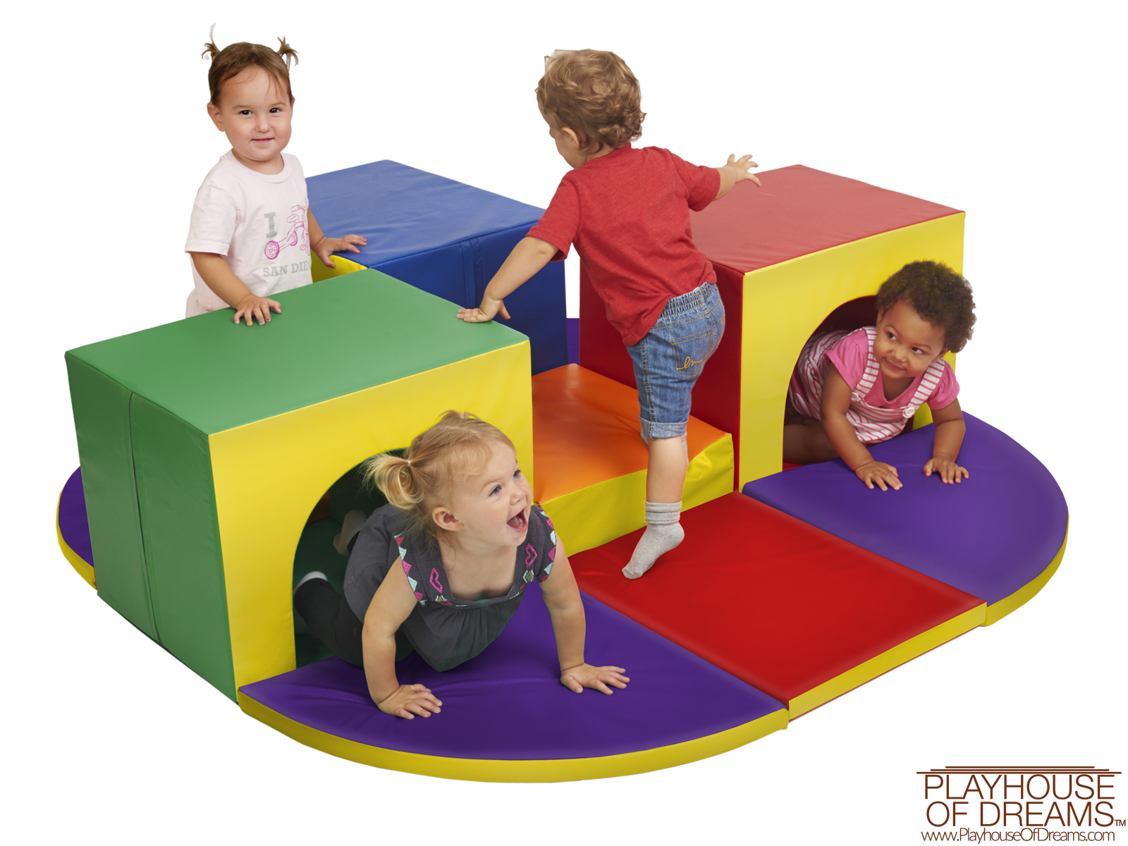 Softzone Triple Tunnel Maze - Playhouse of Dreams  - 1