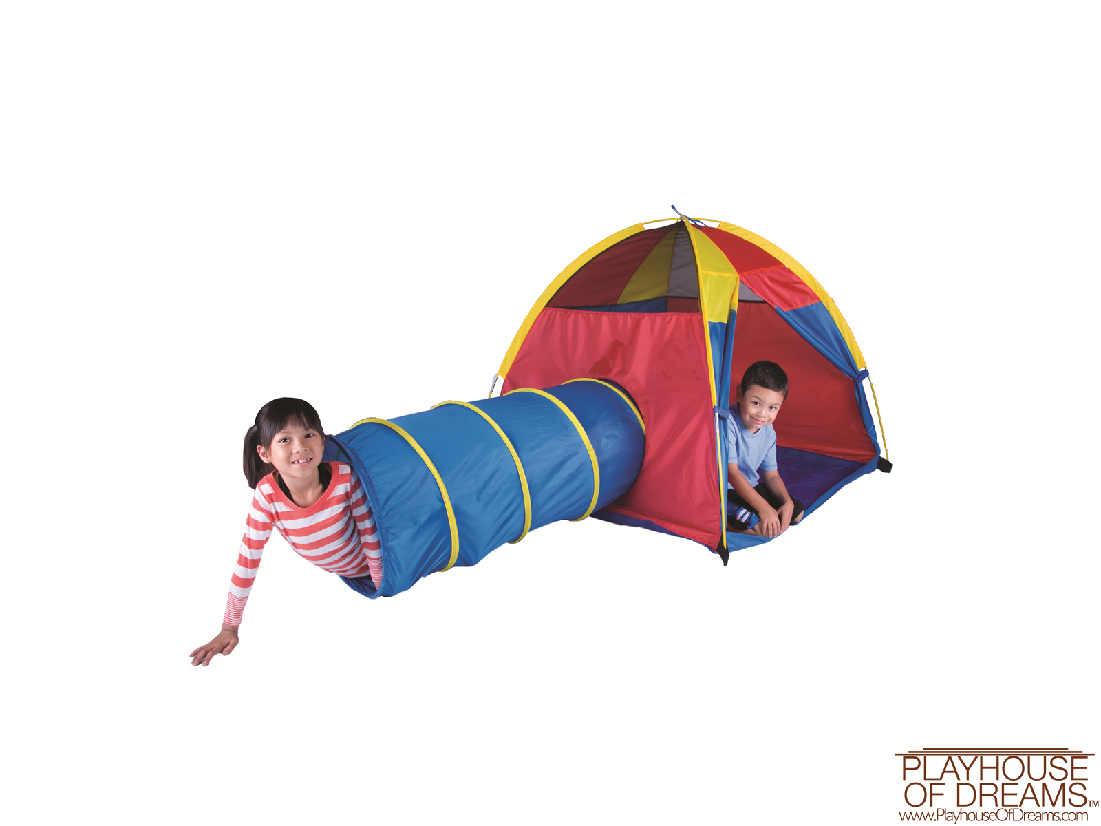 "Neon ""Hide-Me"" Tent/Tunnel Combo - Pacific Play Tent - Playhouse of Dreams  - 12"