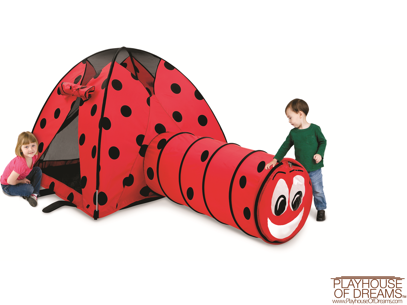 Ladybug Tent & Tunnel Combination - Pacific Play Tent - Playhouse of Dreams  - 1