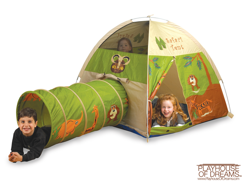 """Jungle Safari"" Tent/Tunnel Combination - Pacific Play Tent - Playhouse of Dreams  - 1"