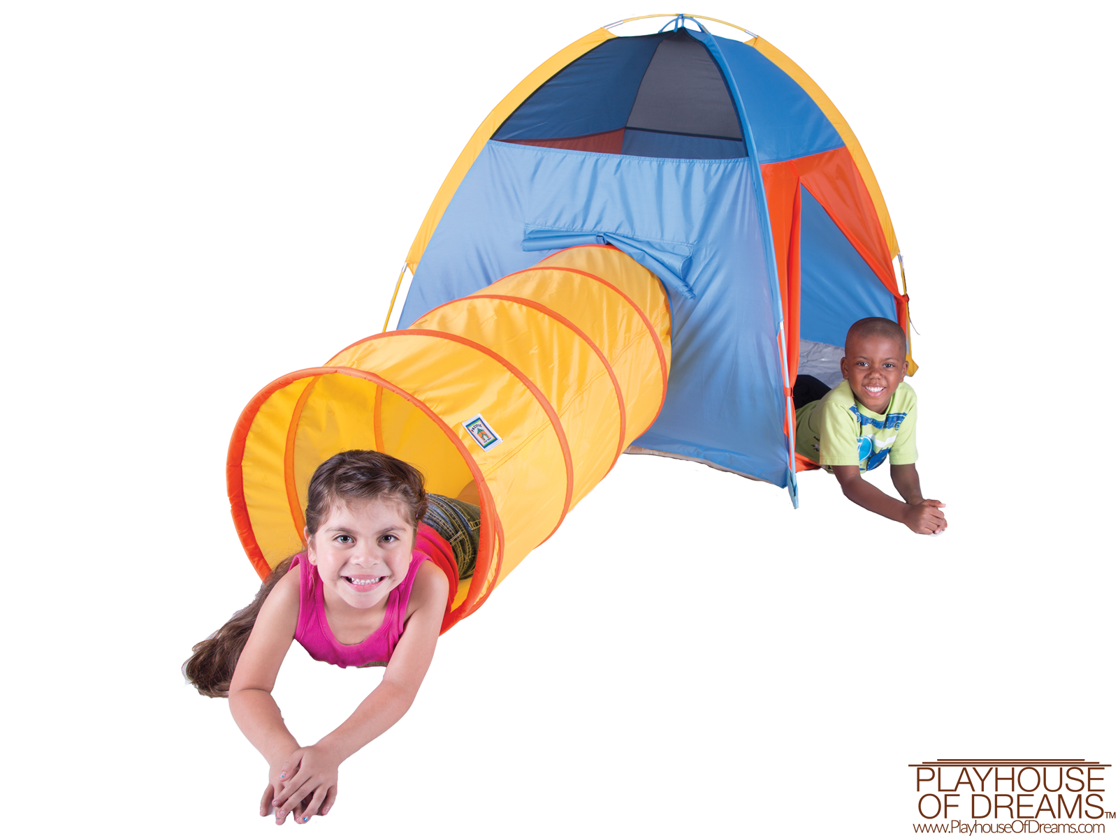 "Neon ""Hide-Me"" Tent/Tunnel Combo - Pacific Play Tent - Playhouse of Dreams  - 1"