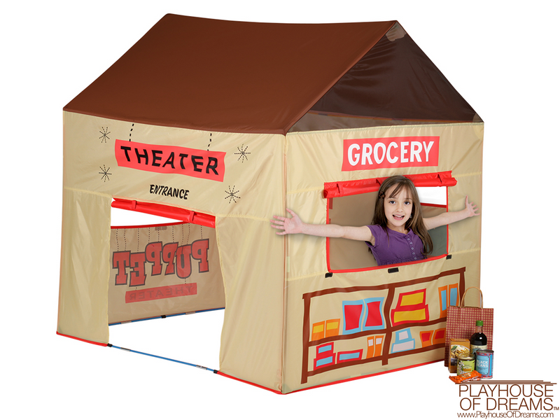 Grocery Theater Tent - Pacific Play Tent - Playhouse of Dreams  - 2