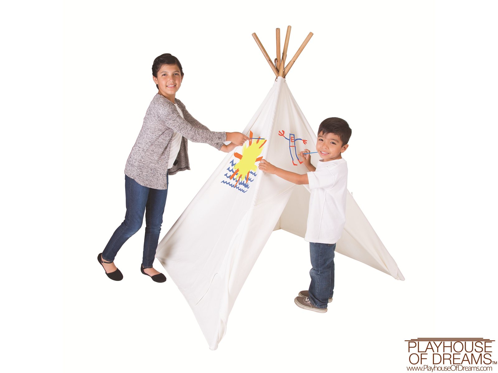 The Painting Tee Pee - Pacific Play Tent - Playhouse of Dreams  - 2