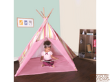 Striation Pink Tee Pee - Pacific Play Tent - Playhouse of Dreams  - 2