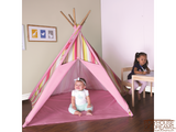 Striation Pink Tee Pee - Pacific Play Tent - Playhouse of Dreams  - 3