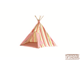 Striation Pink Tee Pee - Pacific Play Tent - Playhouse of Dreams  - 4