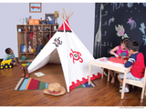 Southwest Cotton Canvas Tee Pee - Pacific Play Tent - Playhouse of Dreams  - 3