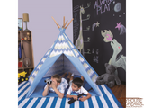 Striation Blue Tee Pee - Pacific Play Tent - Playhouse of Dreams  - 5