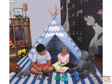 Striation Blue Tee Pee - Pacific Play Tent - Playhouse of Dreams  - 4