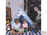 Striation Blue Tee Pee - Pacific Play Tent - Playhouse of Dreams  - 3