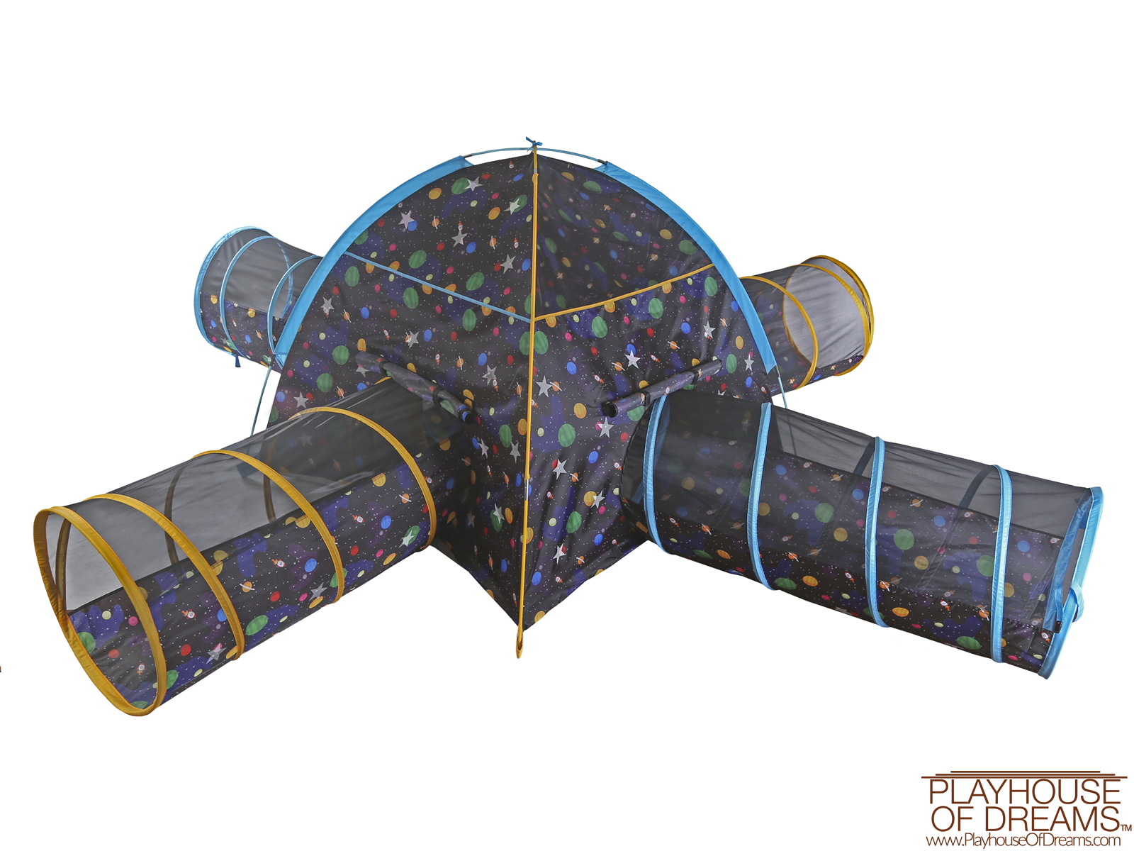 Grow in Dark Galaxy Dome Tent with Galaxy Tunnel - Pacific Play Tent - Playhouse of Dreams  - 1
