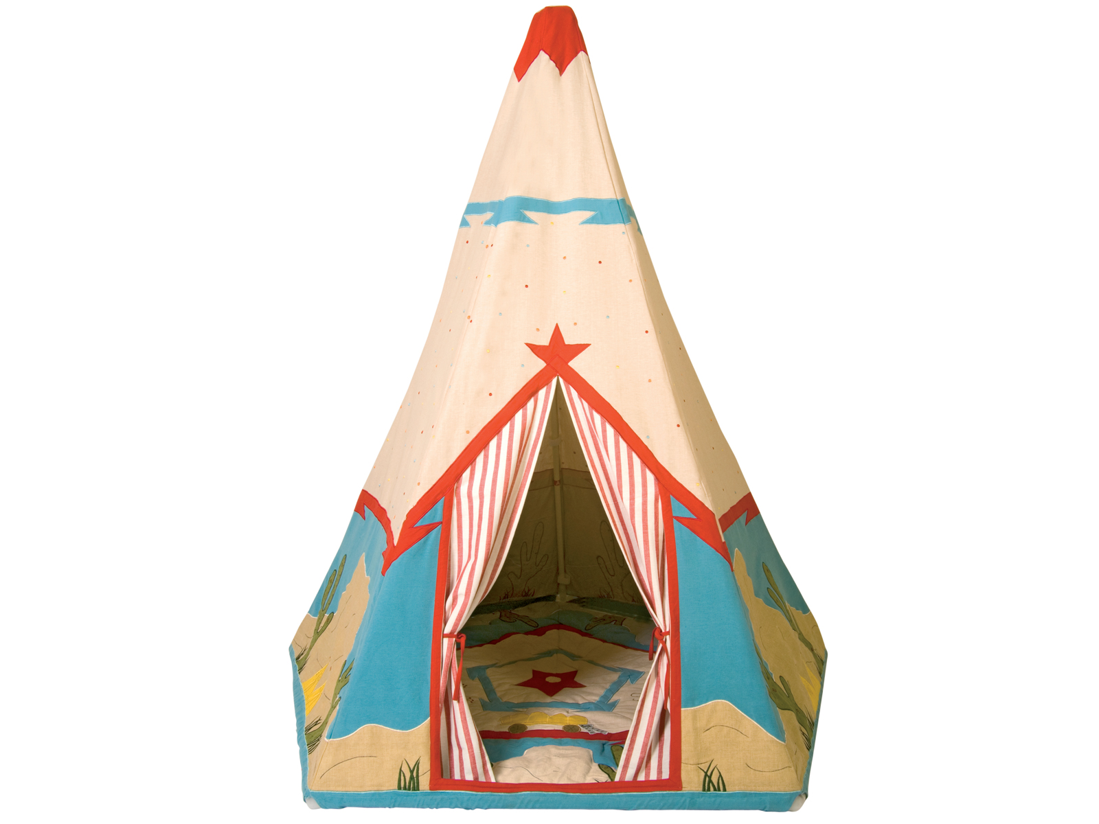 Win Green Handmade Cotton Cowboy Wigwam Playhouse - Playhouse of Dreams  - 1