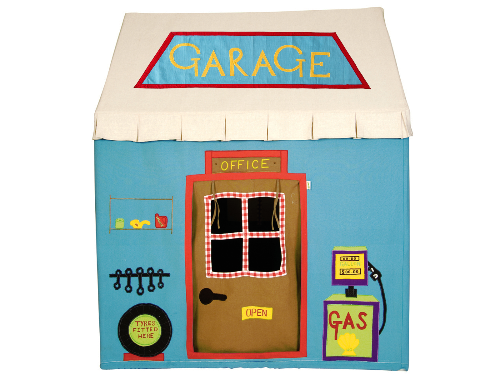 Win Green Handmade Cotton Garage Cottage Playhouse - Playhouse of Dreams  - 1