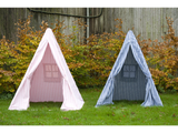Win Green Handmade Cotton Multi-Stripe Wigwam Playhouse - Playhouse of Dreams  - 3