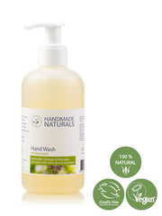 Handmade Naturals  – Natural ANTIBACTERIAL HAND WASH with Organic Aloe Vera, Lavender, Sweet Orange & Manuka 250 ml | Handmade Naturals 天然抗菌潔手液 250ml