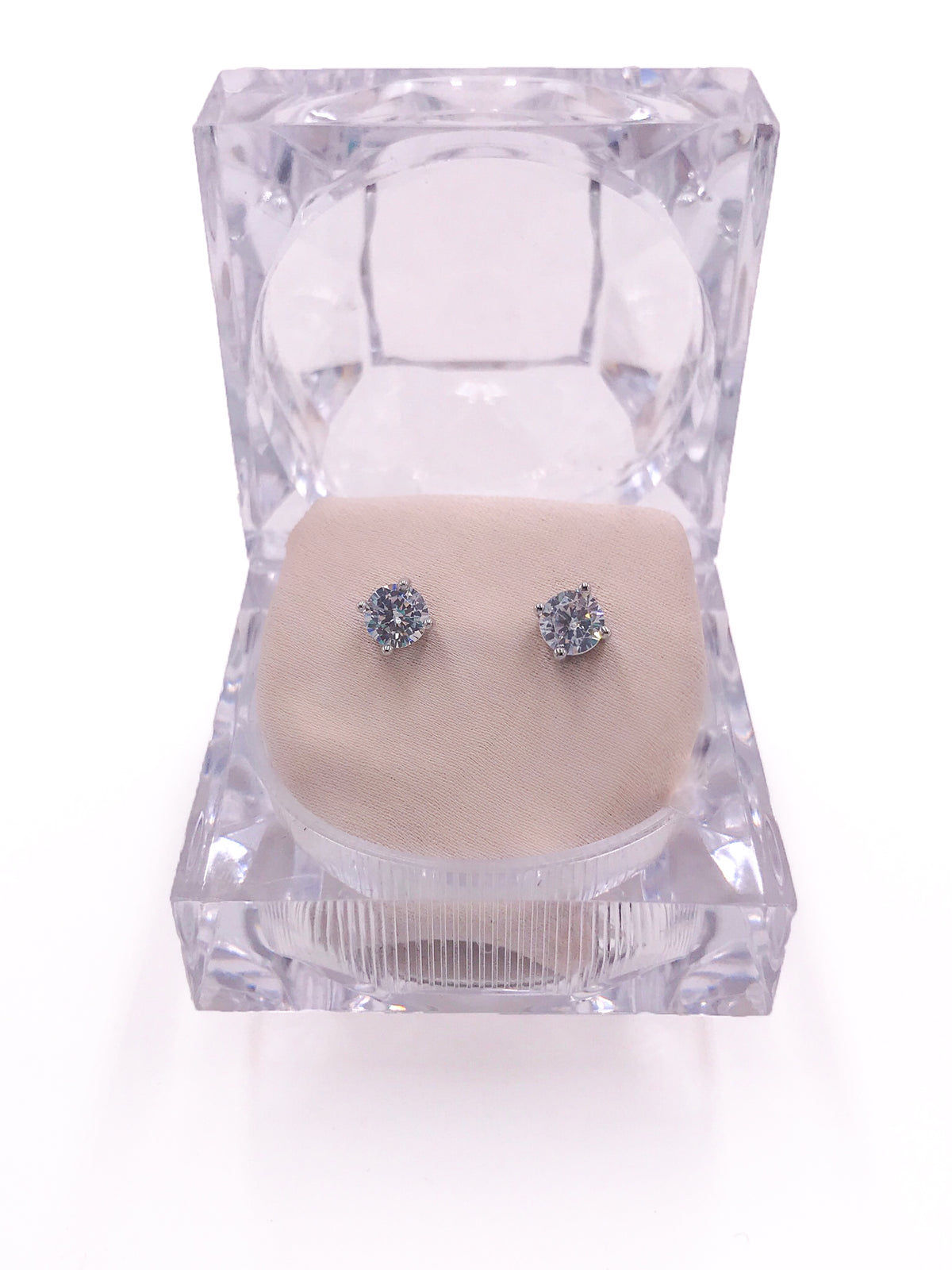 Ceci Diamond Earrings (Silver)