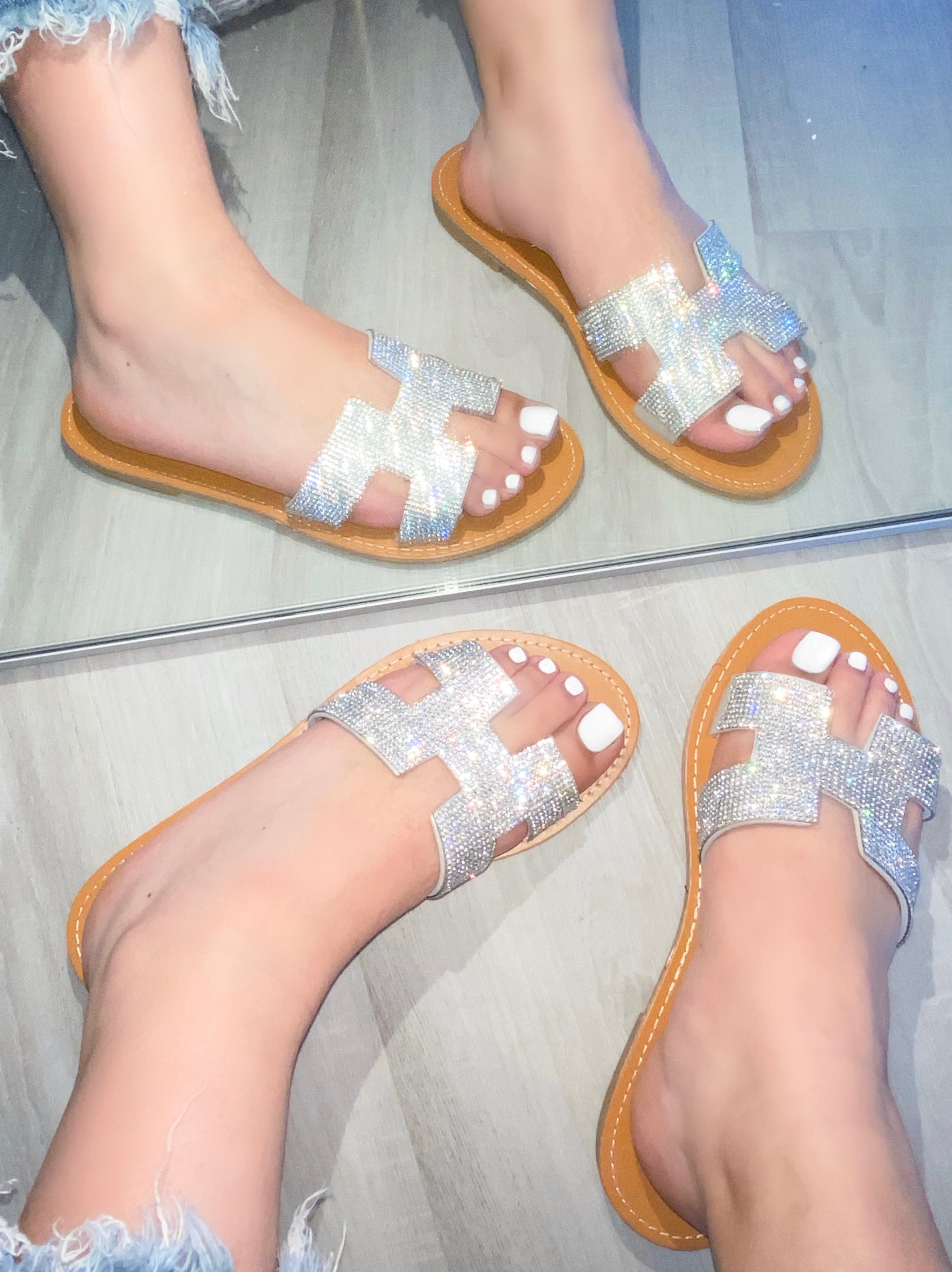 Lily Sandals (Silver)