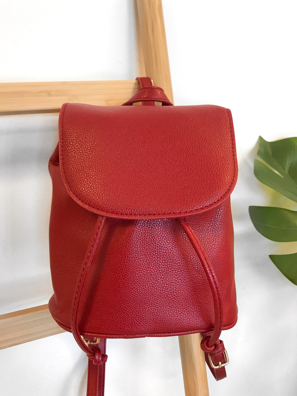 Evelyn Mini Backpack (Red)