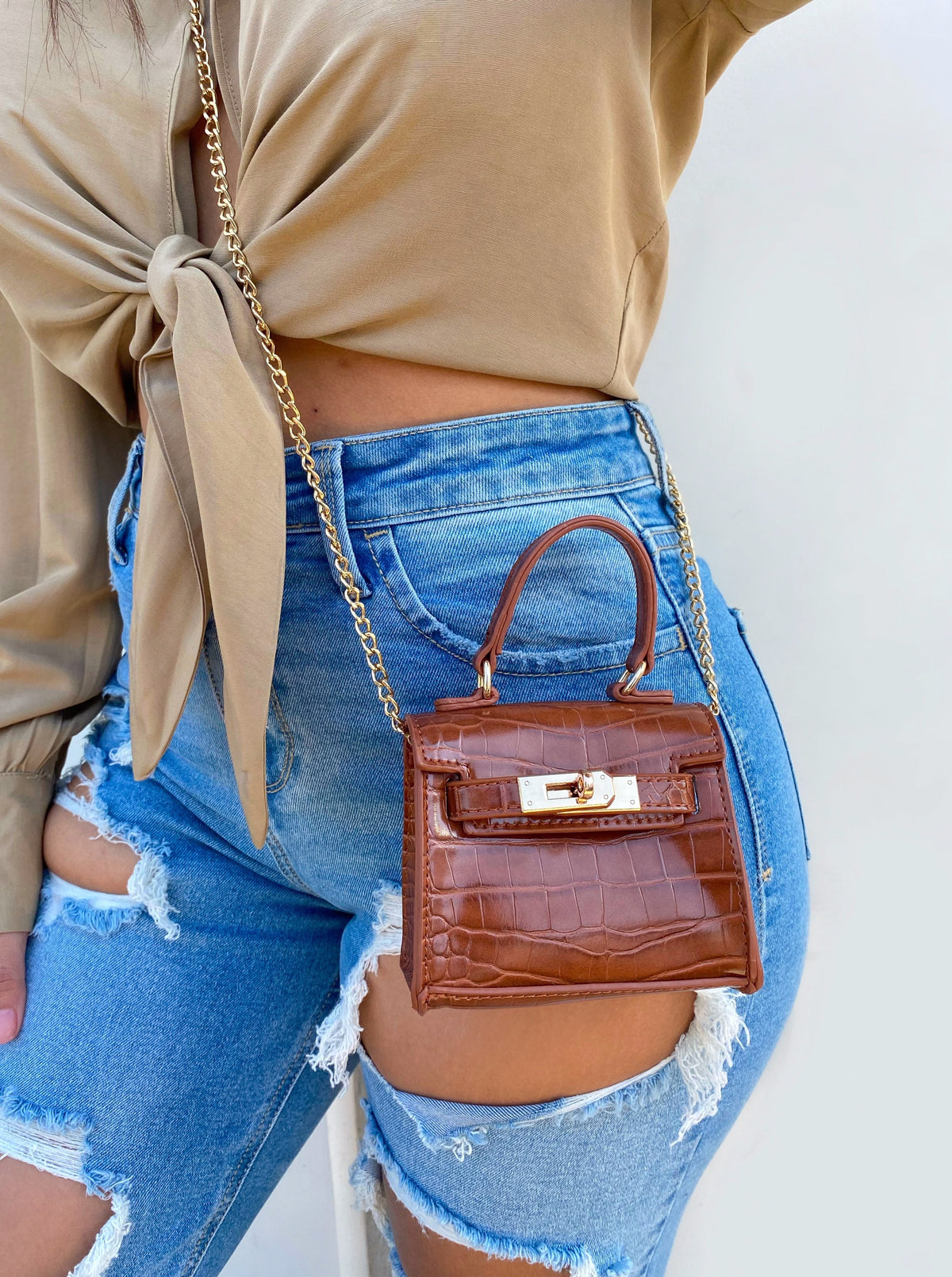 Camille Mini Bag (Cognac)