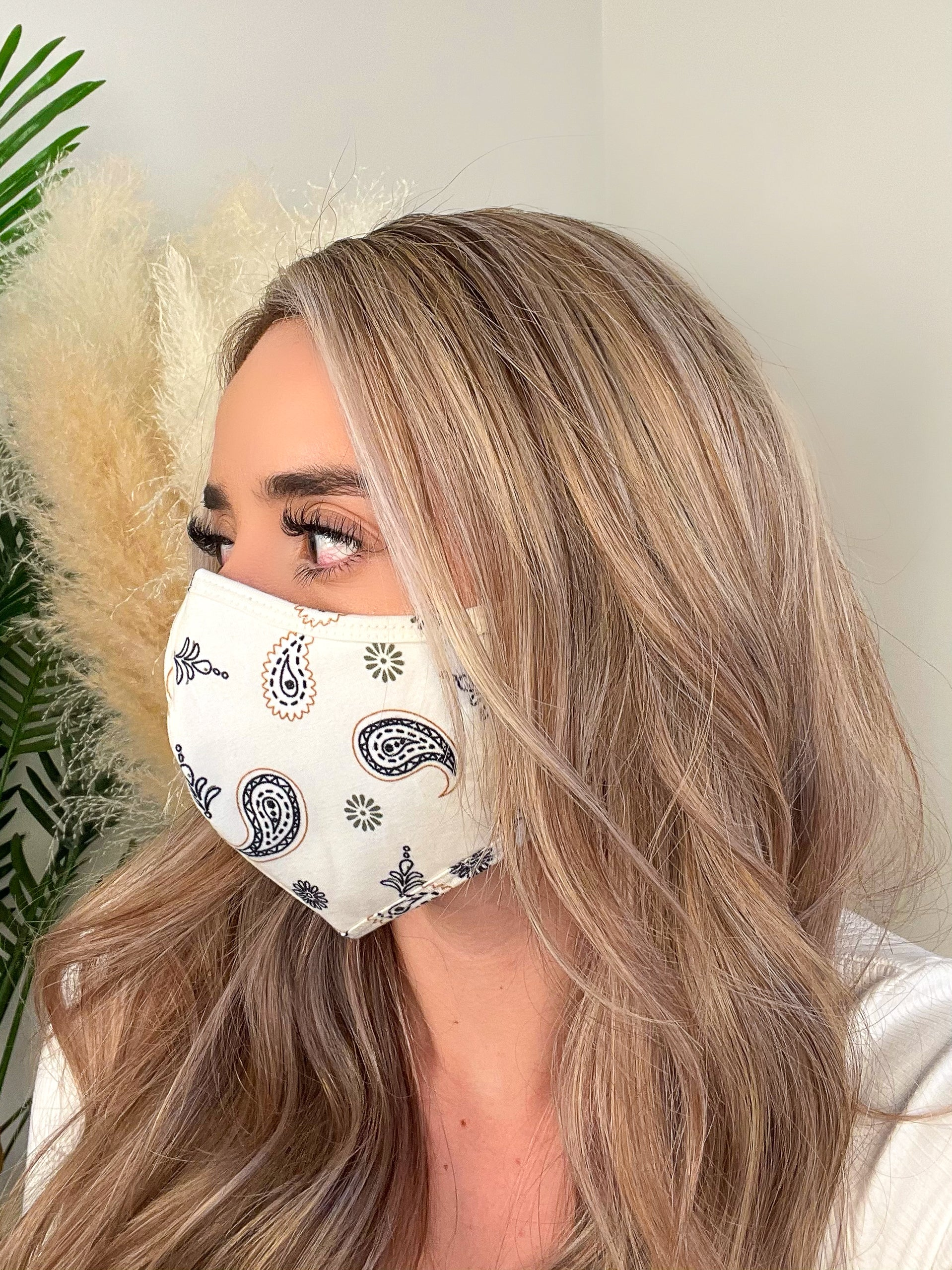 cream face mask, design facemask