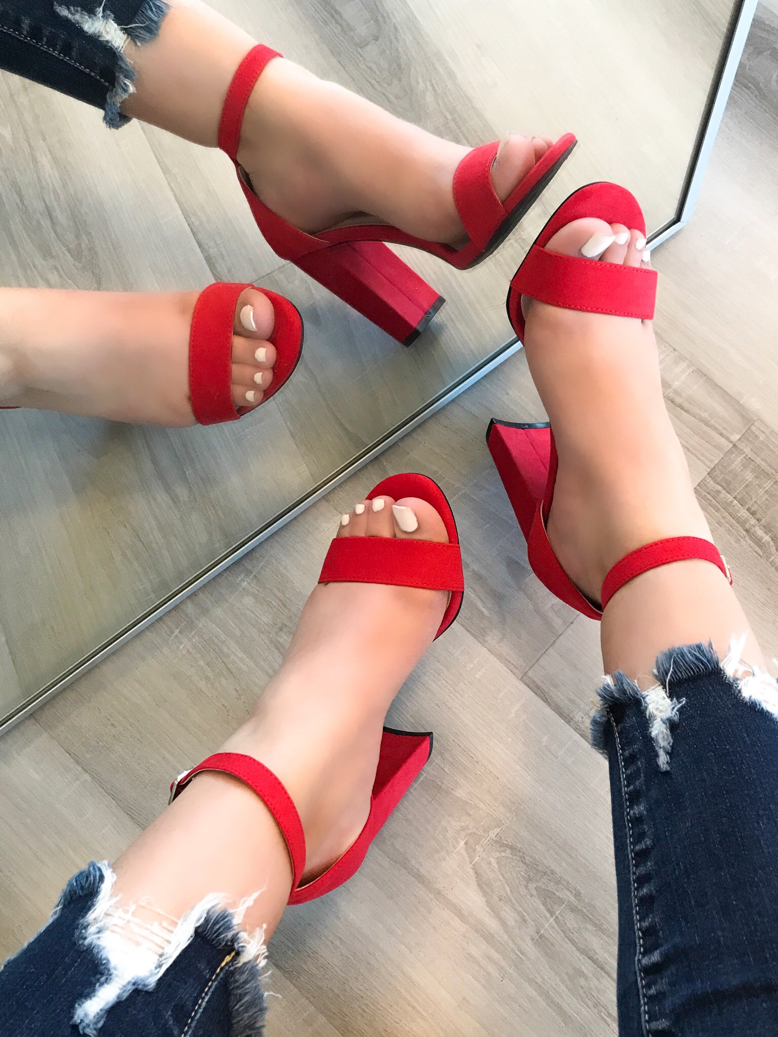 Claire Heels (red)