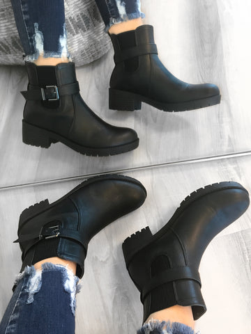 Sylvia Boots (Black Leather)