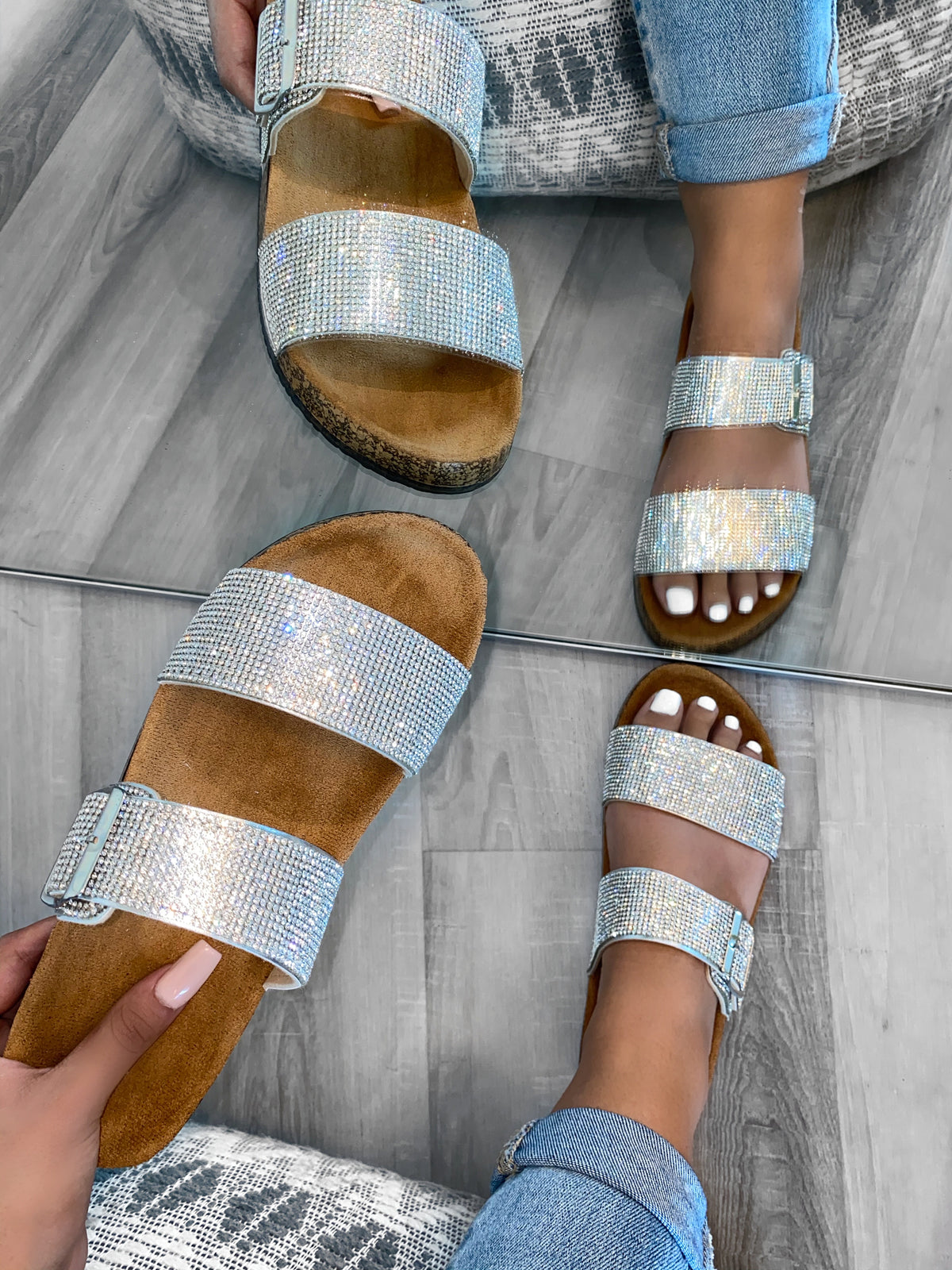 Vicky Sandals (Silver)