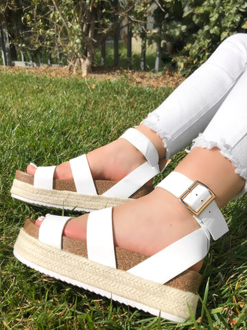 Monique Platform Sandal (tan)
