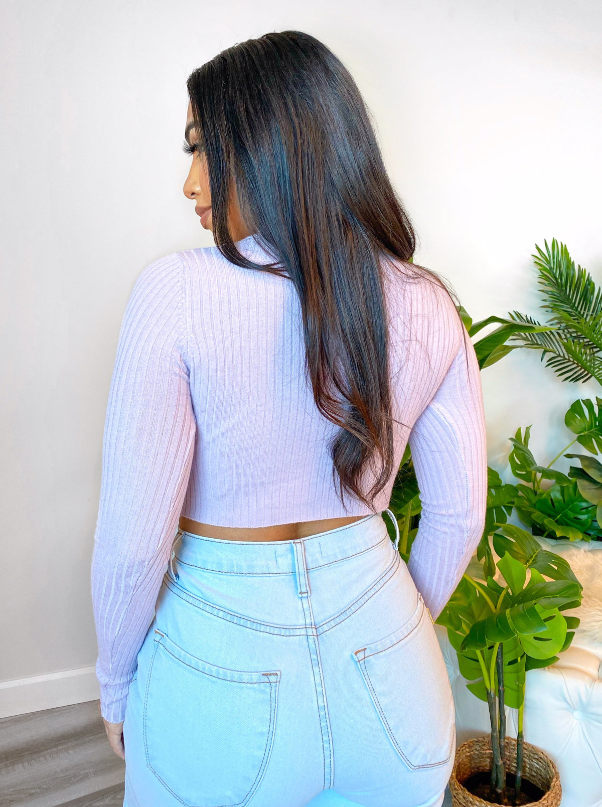 Jade Crop Top (Lavander)