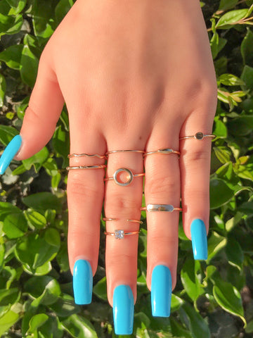 Nailea Ring Set (Silver)