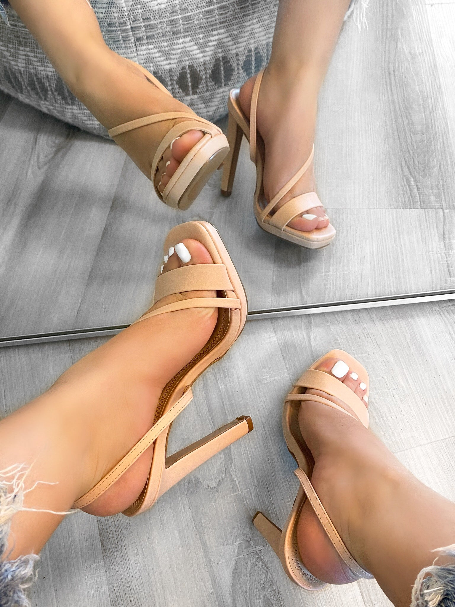 nude heels, strappy heels, leather heels