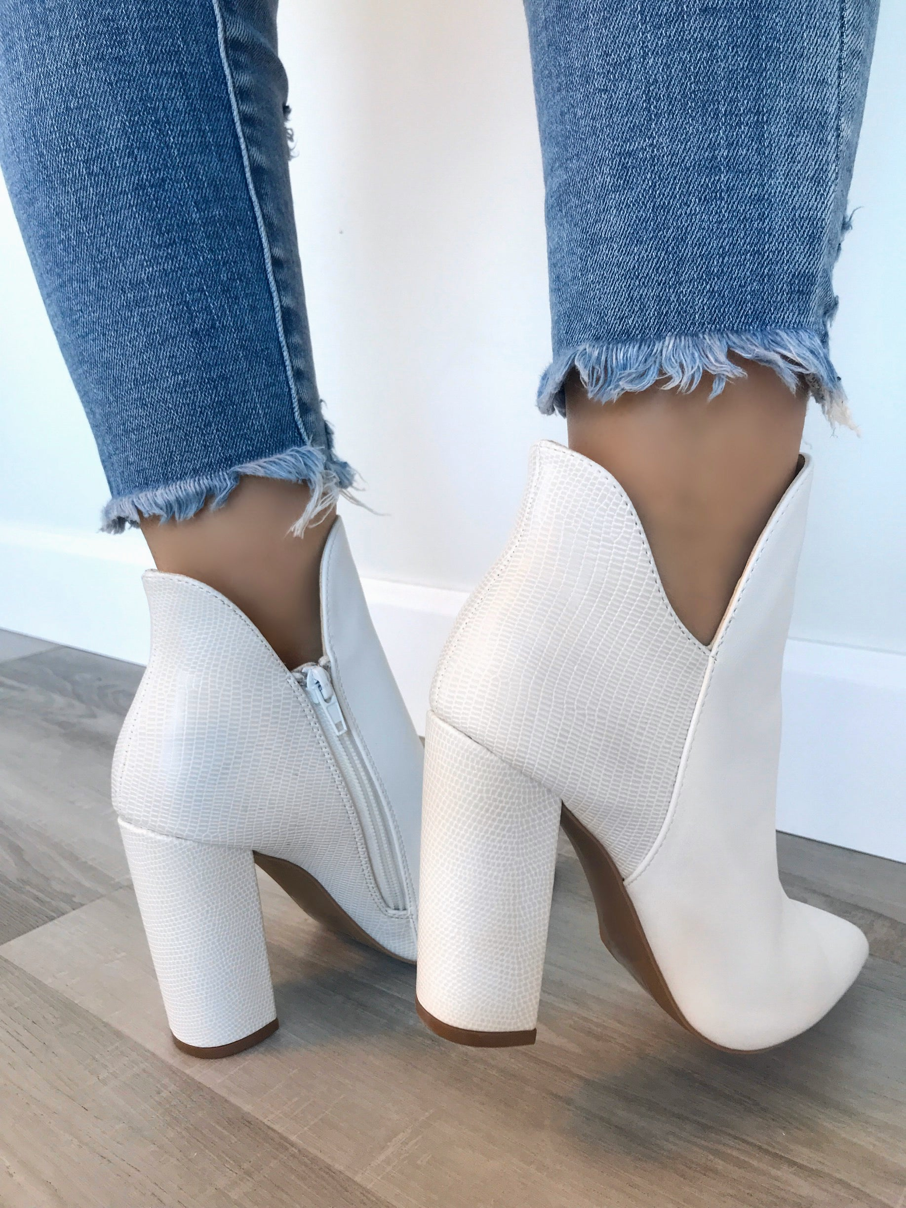 Hope Booties (White)