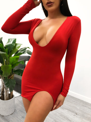 Gracelyn Bodysuit (Red)