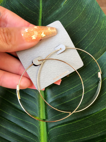 Clara Clear Hoop (gold)