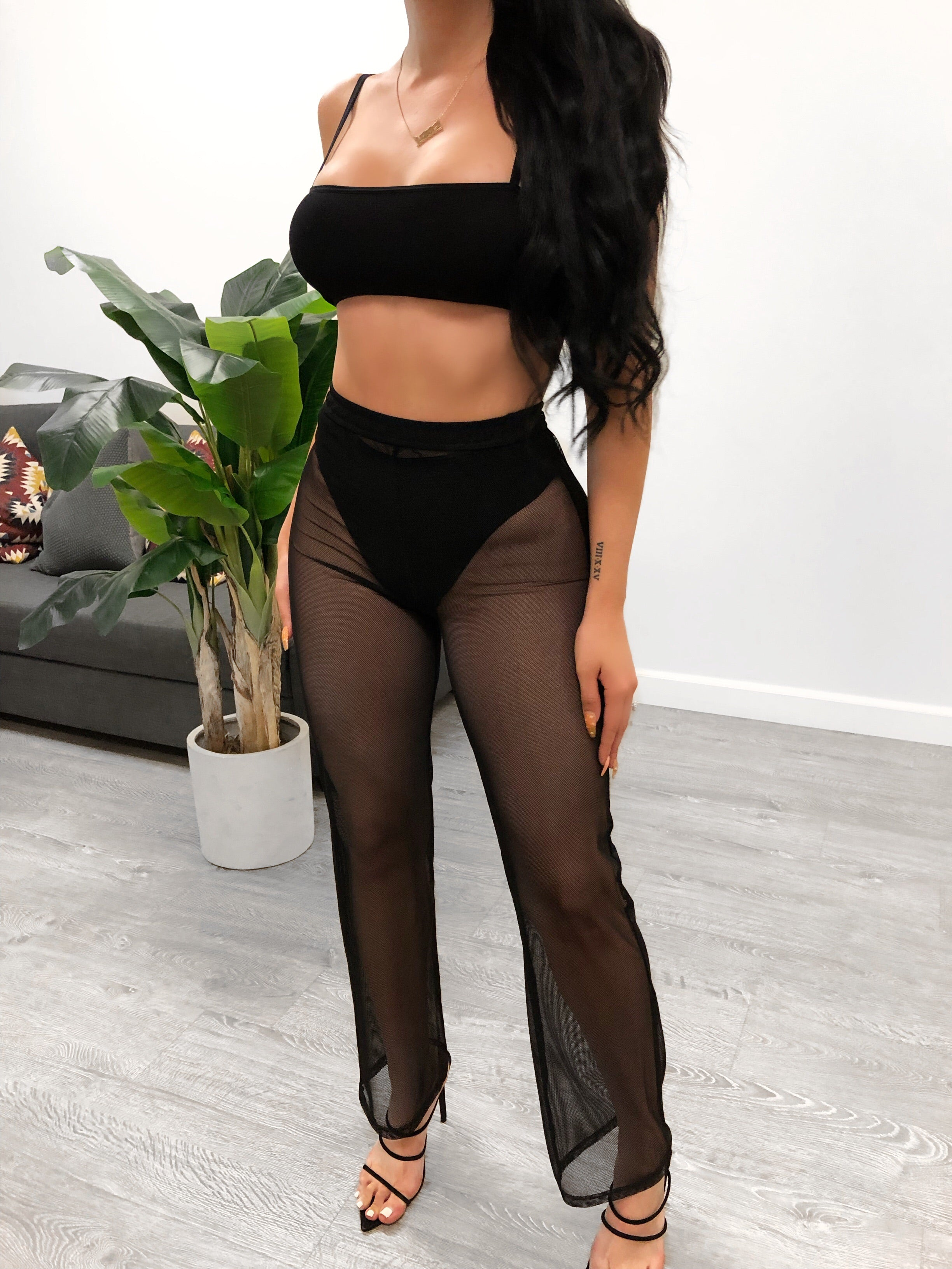 Grace Mesh Bottoms (Black)